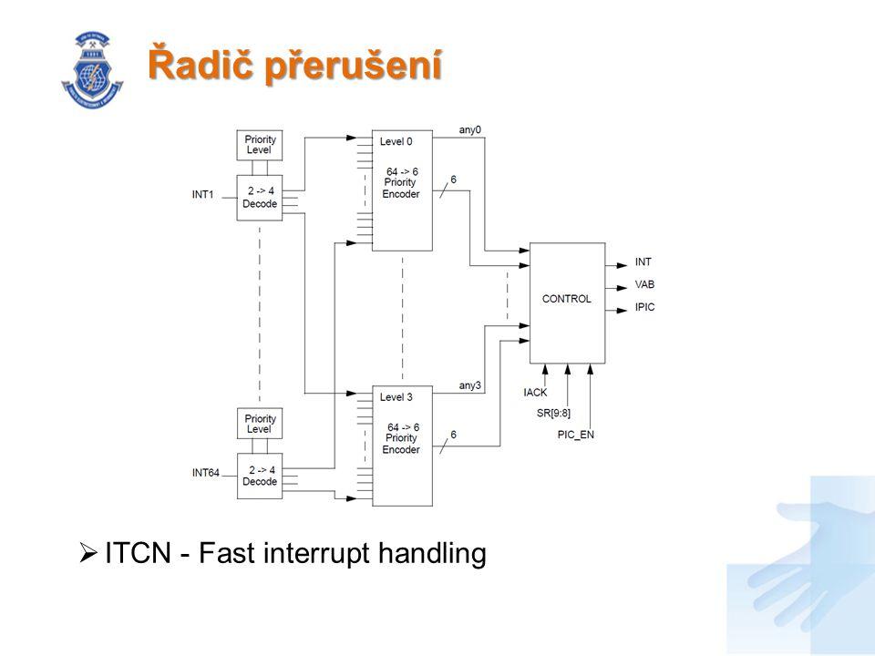 Řadič přerušení  ITCN - Fast interrupt handling