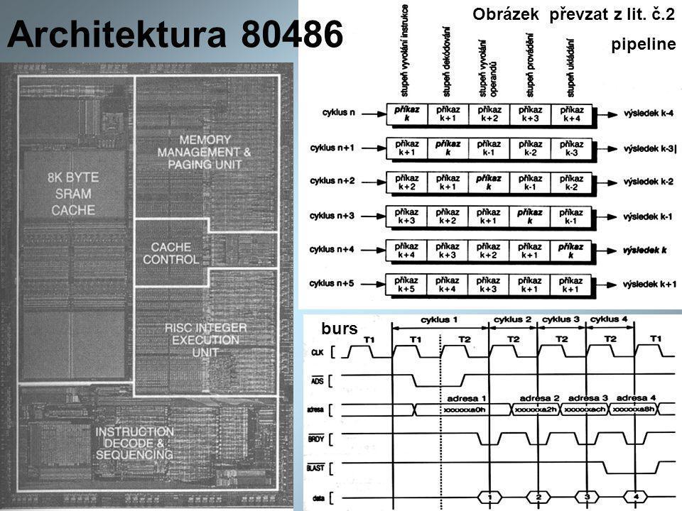 Architektura 80486 pipeline burs Obrázek převzat z lit. č.2