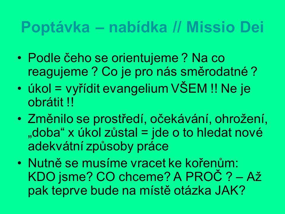 Poptávka – nabídka // Missio Dei Podle čeho se orientujeme .