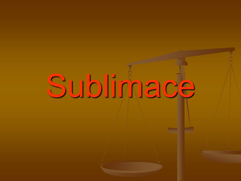 Sublimace