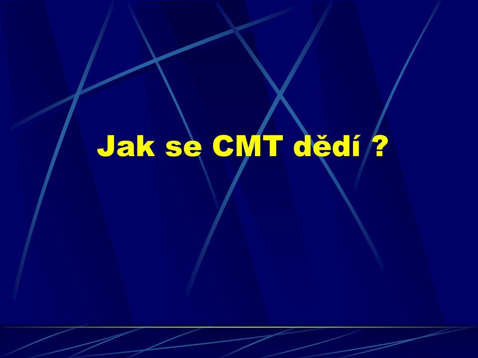 Jak se CMT dědí ?
