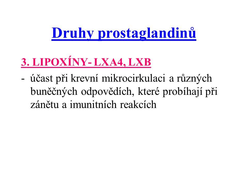 Druhy prostaglandinů 3.