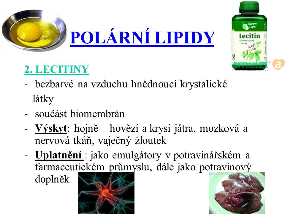 POLÁRNÍ LIPIDY 2.