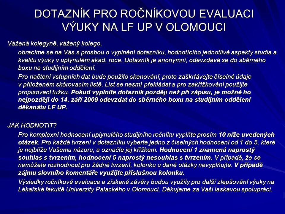 × Hodnocený ročník studia: V.ročník Vzor označení: 1 2 3 4 5 A.
