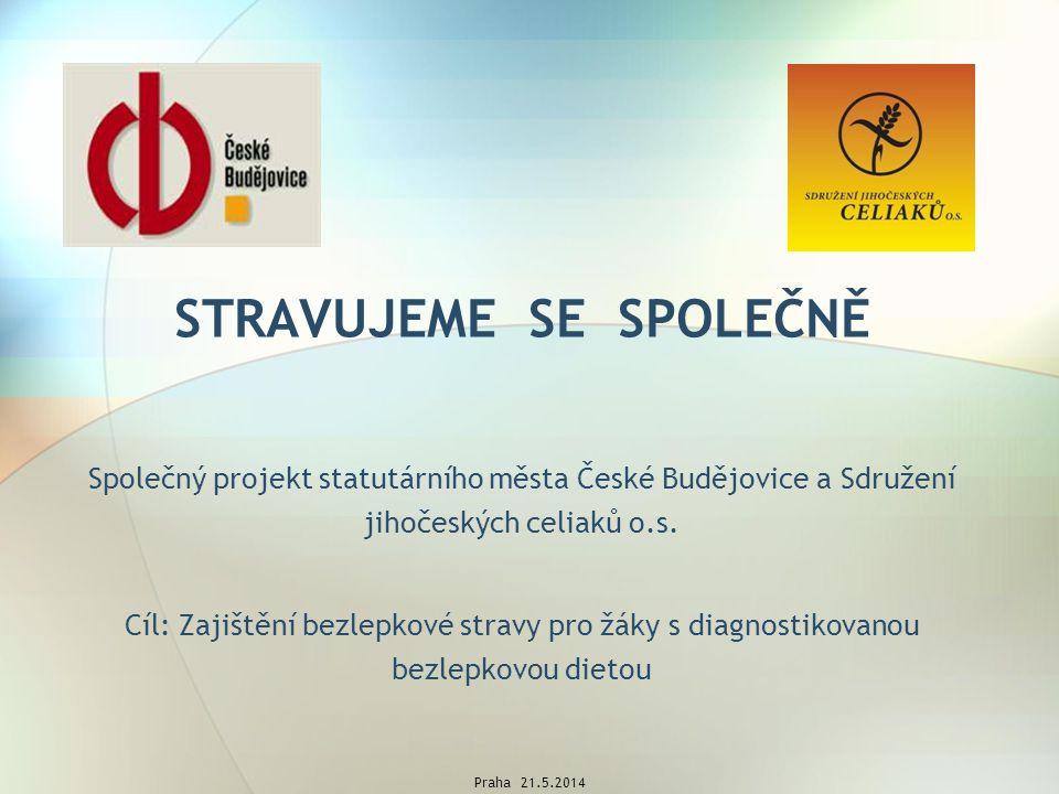 STRAVUJEME SE SPOLEČNĚ Společný projekt statutárního města České Budějovice a Sdružení jihočeských celiaků o.s.