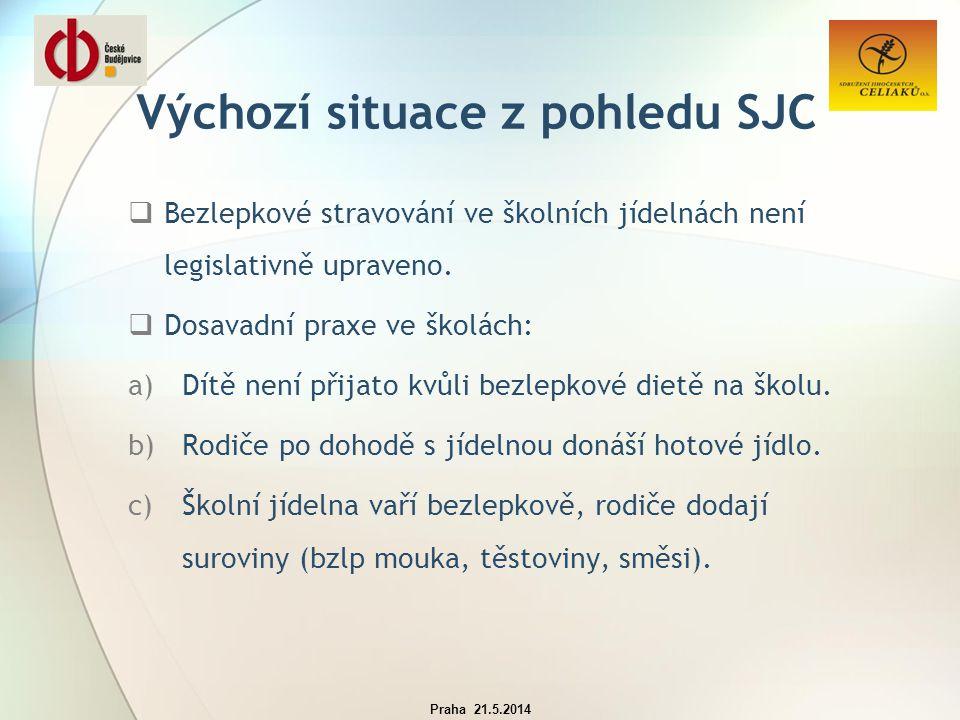 Výchozí situace  Největší koncentrace bezlepkových žáků v JK je v Českých Budějovicích.