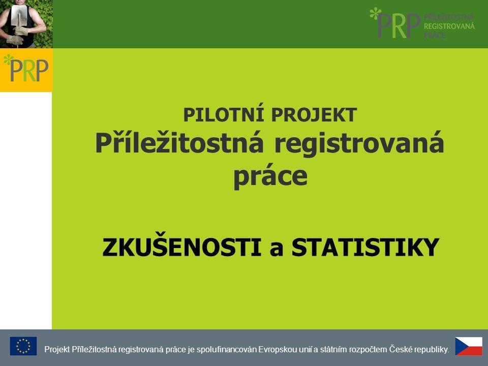 PILOTNÍ PROJEKT Příležitostná registrovaná práce Projekt Příležitostná registrovaná práce je spolufinancován Evropskou unií a státním rozpočtem České republiky.