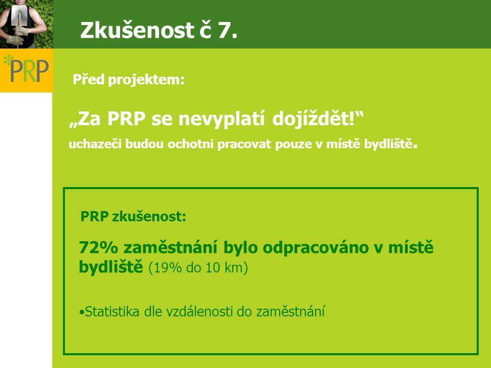 """""""Za PRP se nevyplatí dojíždět! uchazeči budou ochotni pracovat pouze v místě bydliště."""