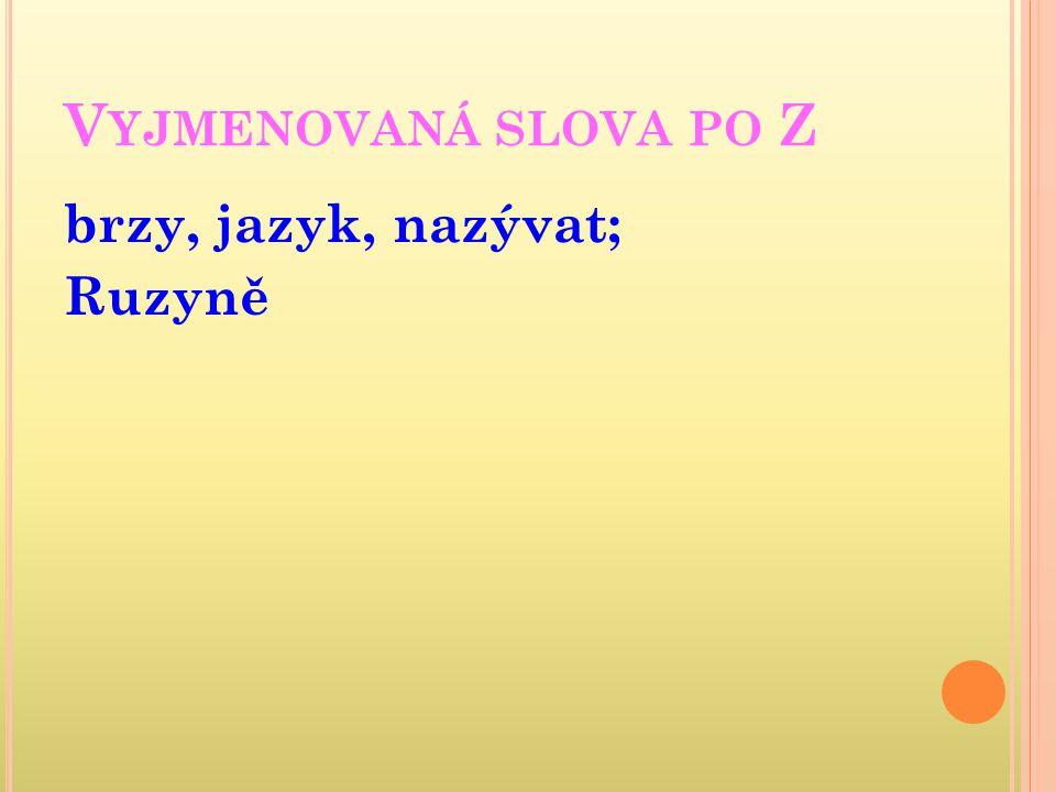 JAZYK ČESKÝ Vyjmenovaná slova po M VY_32_INOVACE_01_08