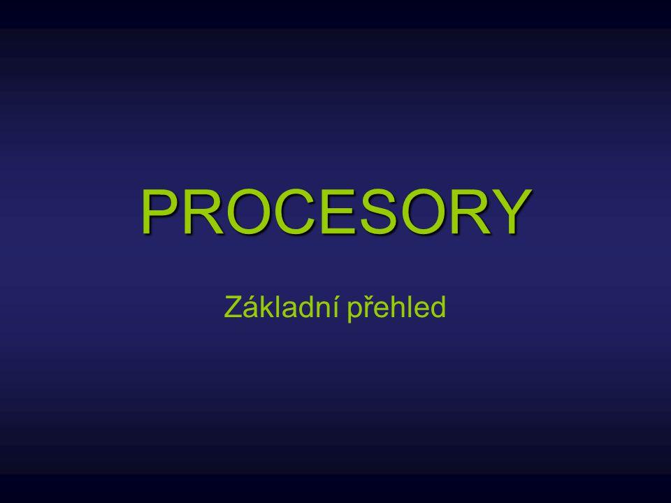 Procesor Procesor označován také CPU (Central Processing Unit) je jednou z nejdůležitějších součástí PC, bez které by počítač nefungoval, je vlastně jeho srdcem.