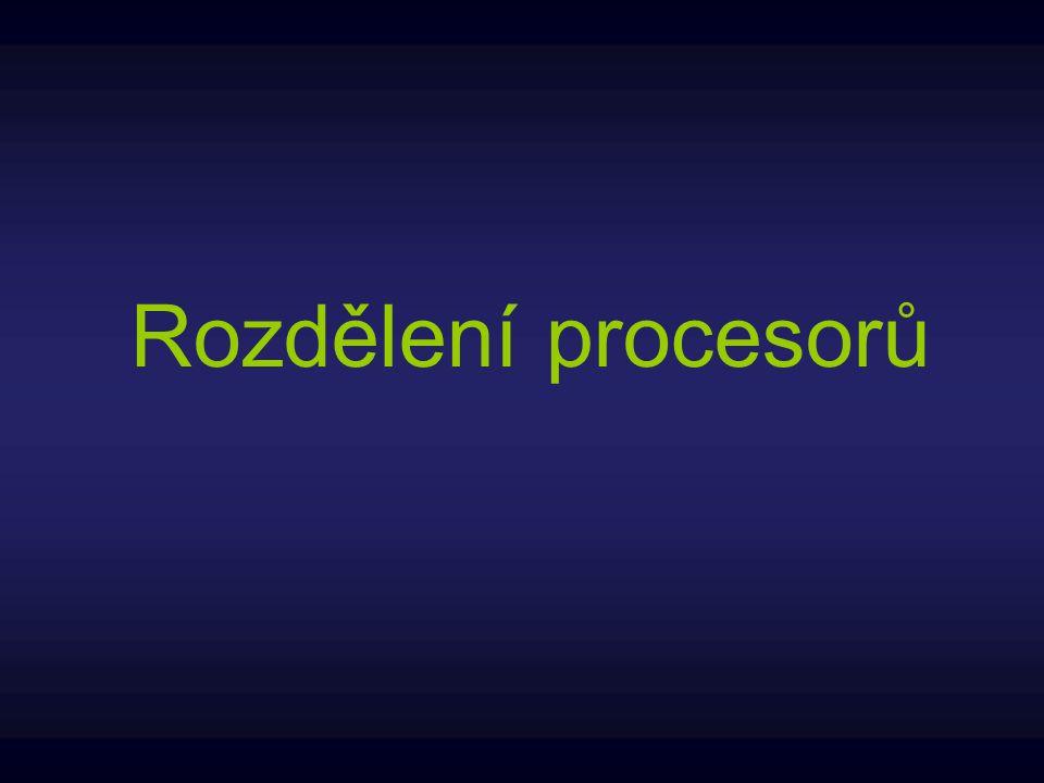 Rozdělení procesorů