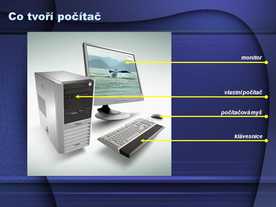 monitor počítačová myš klávesnice vlastní počítač Co tvoří počítač