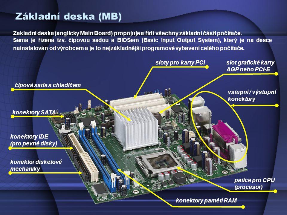 Zakladní deska (anglicky Main Board) propojuje a řídí všechny základní části počítače.