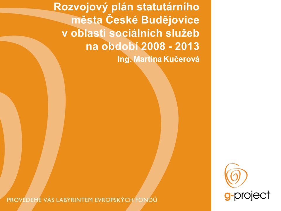 Rozvojový plán statutárního města České Budějovice v oblasti sociálních služeb na období 2008 - 2013 Ing.