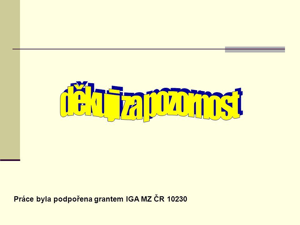 IGA MZ CR 9731 IGA MZ CR 9731 Práce byla podpořena grantem IGA MZ ČR 10230