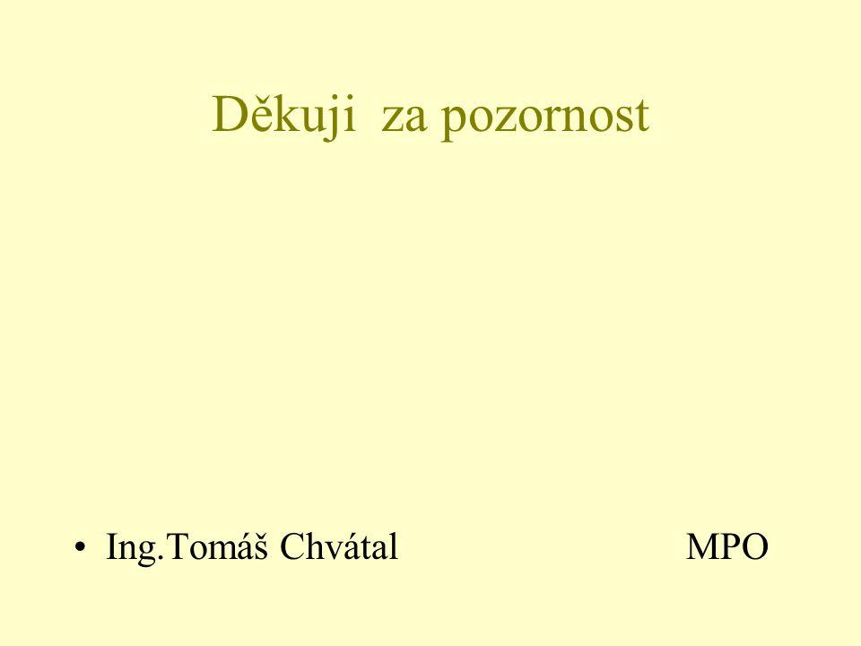 Děkuji za pozornost Ing.Tomáš Chvátal MPO