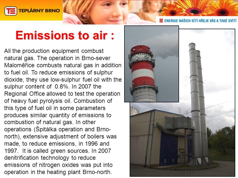 Emissionsto air : Emissions to air : All the production equipment combust natural gas.