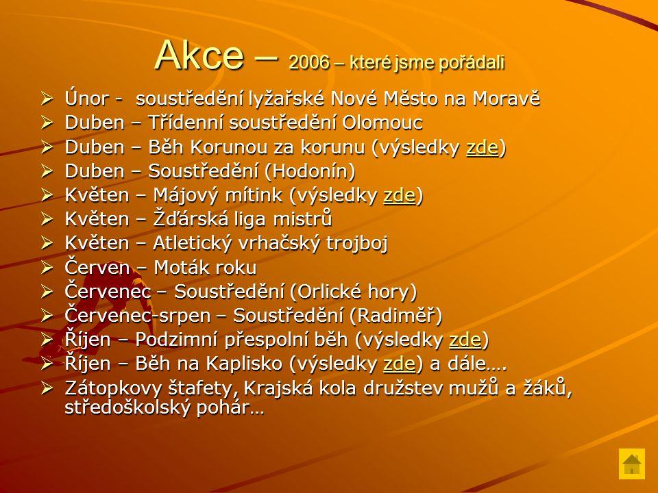 MČR – 2006 18.-19.2.– Juniorské MR v hale Praha 2.