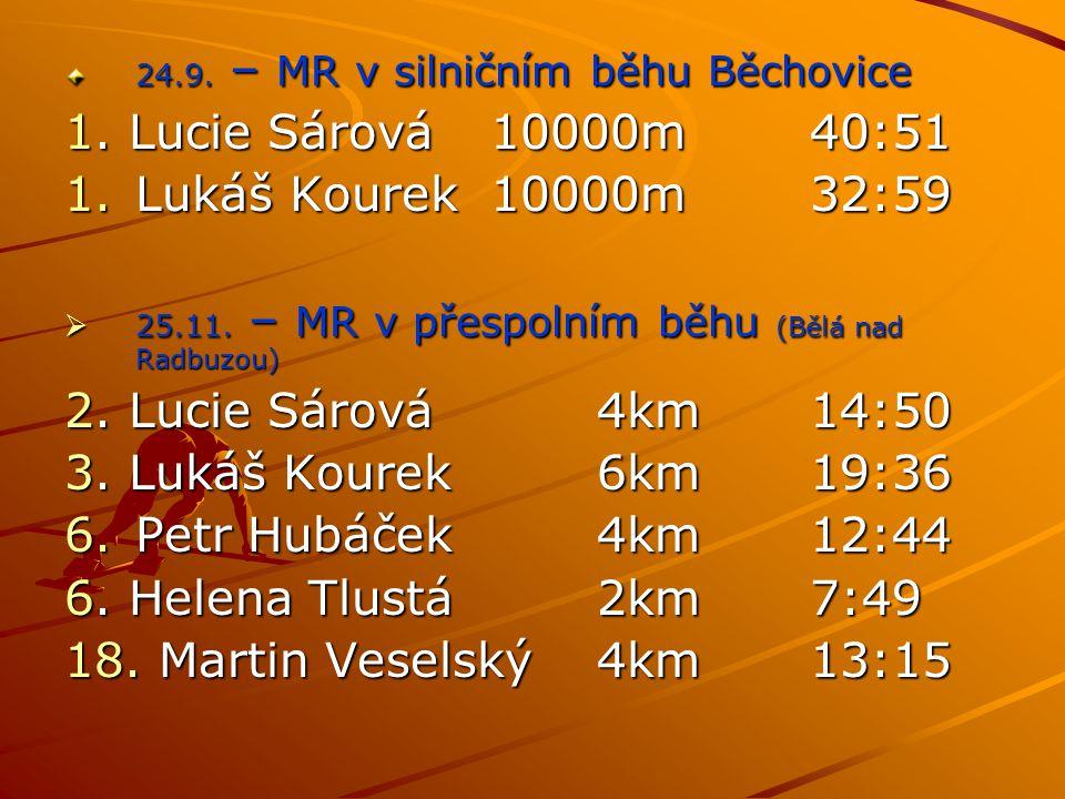 24.9. – MR v silničním běhu Běchovice 1.