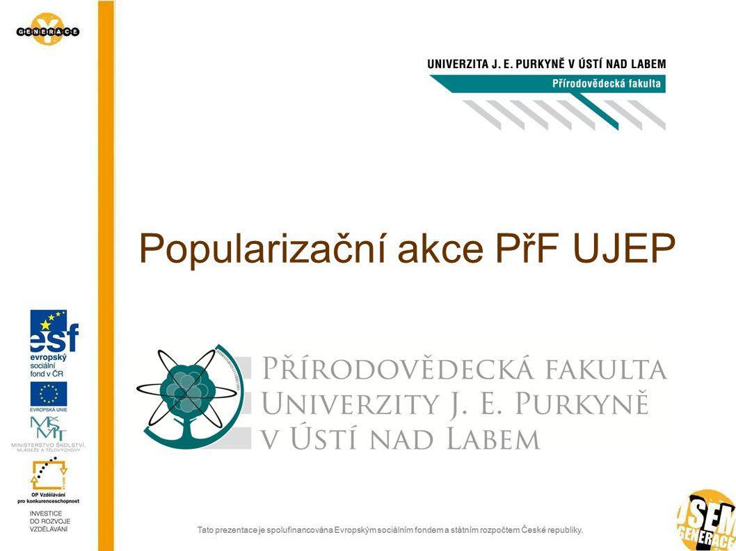 Popularizační akce PřF UJEP