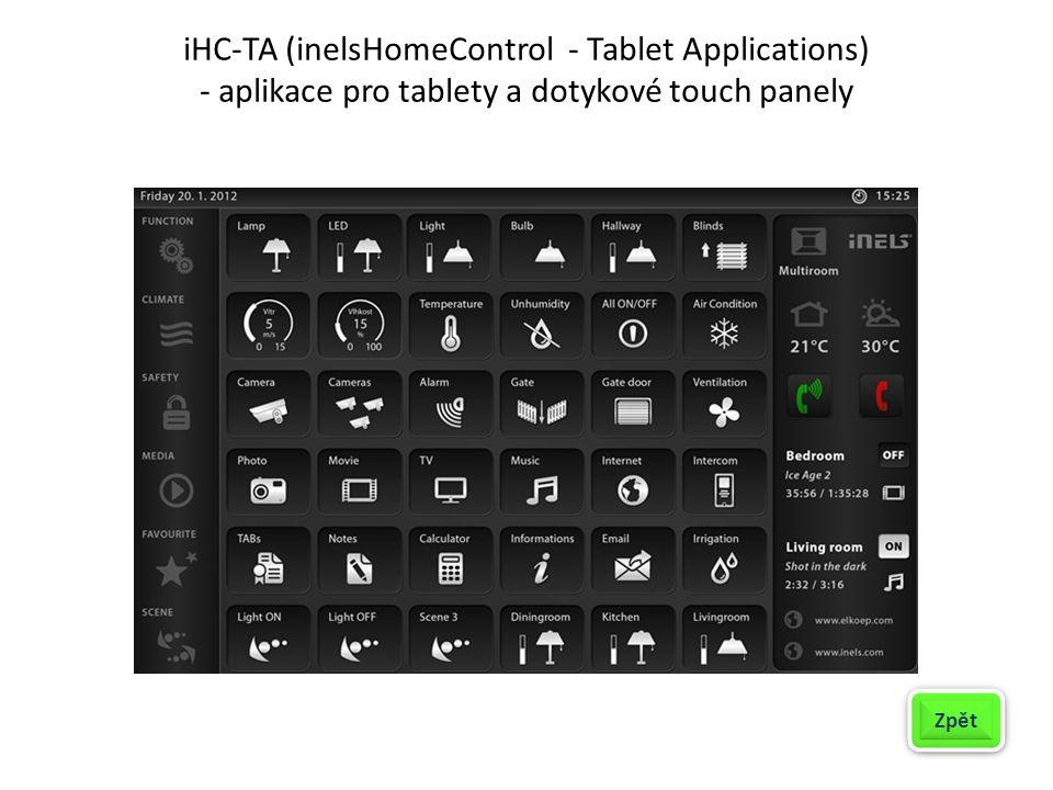 iHC-TA (inelsHomeControl - Tablet Applications) - aplikace pro tablety a dotykové touch panely Zpět
