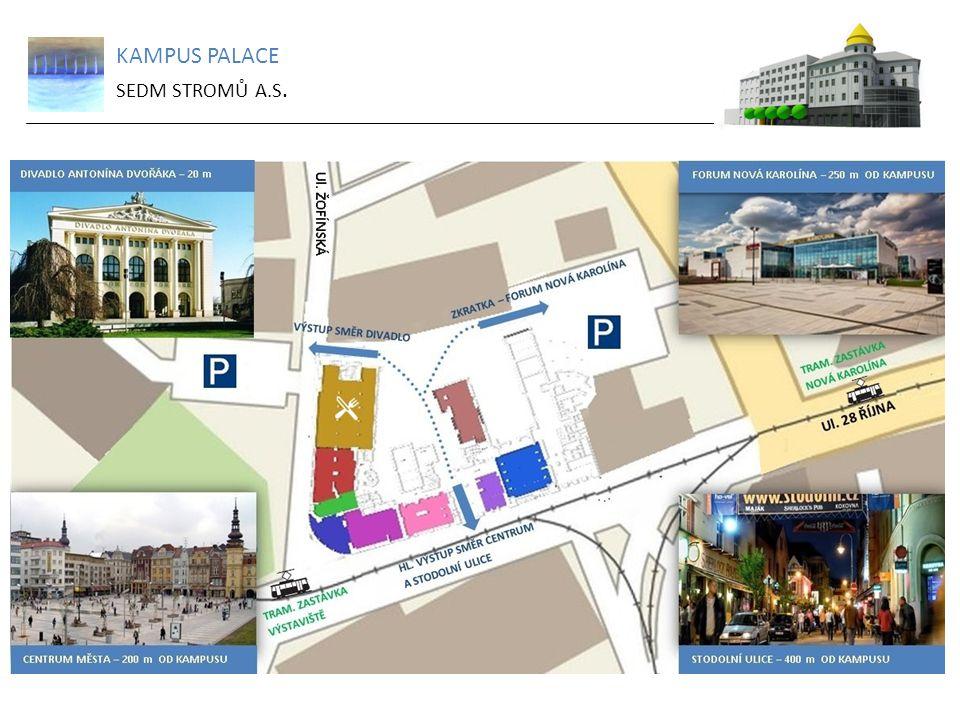 KAMPUS PALACE SEDM STROMŮ A.S.Komerční prostory v 1NP Volné jednotky k pronájmu: 1 027,76 m 2 5.5.