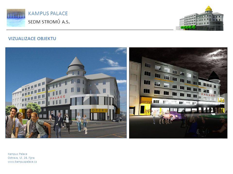 KAMPUS PALACE SEDM STROMŮ A.S. VIZUALIZACE OBJEKTU Kampus Palace Ostrava, Ul. 28. října www.kampuspalace.cz