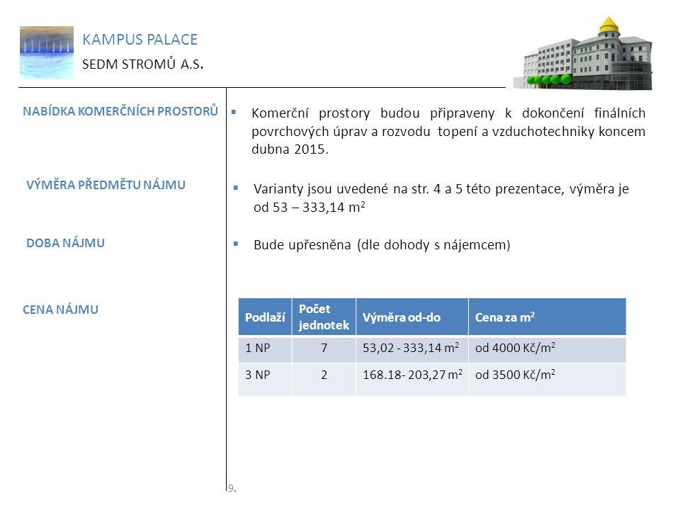 KAMPUS PALACE SEDM STROMŮ A.S.KONTAKTNÍ ÚDAJE Kampus Palace Ostrava, Ul.