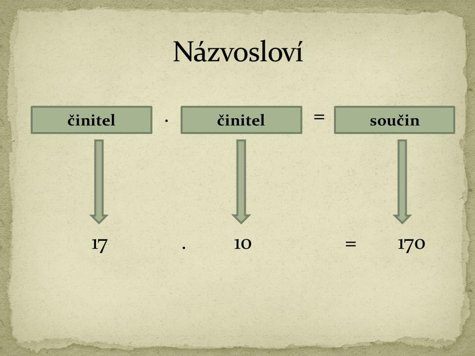 Při násobení libovolného čísla nulou je součin nula.