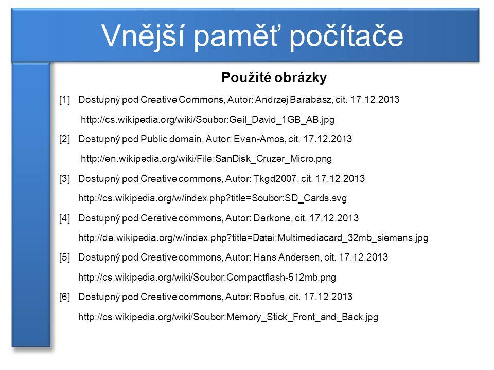 Použité obrázky [1]Dostupný pod Creative Commons, Autor: Andrzej Barabasz, cit.