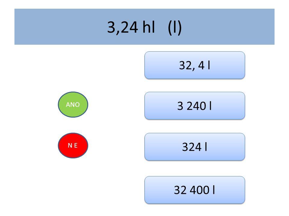 2, 36 m 3 (dm 3 ) ANO N E 236 dm 3 2 360 dm 3 23 600 dm 3 0, 236 dm 3