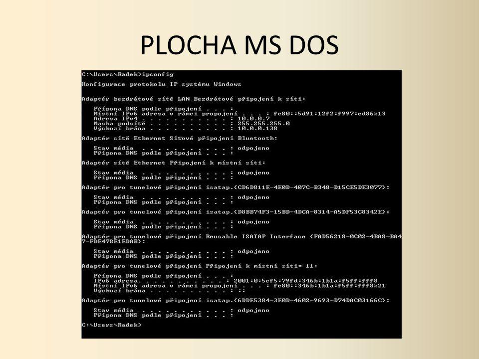 PLOCHA MS DOS