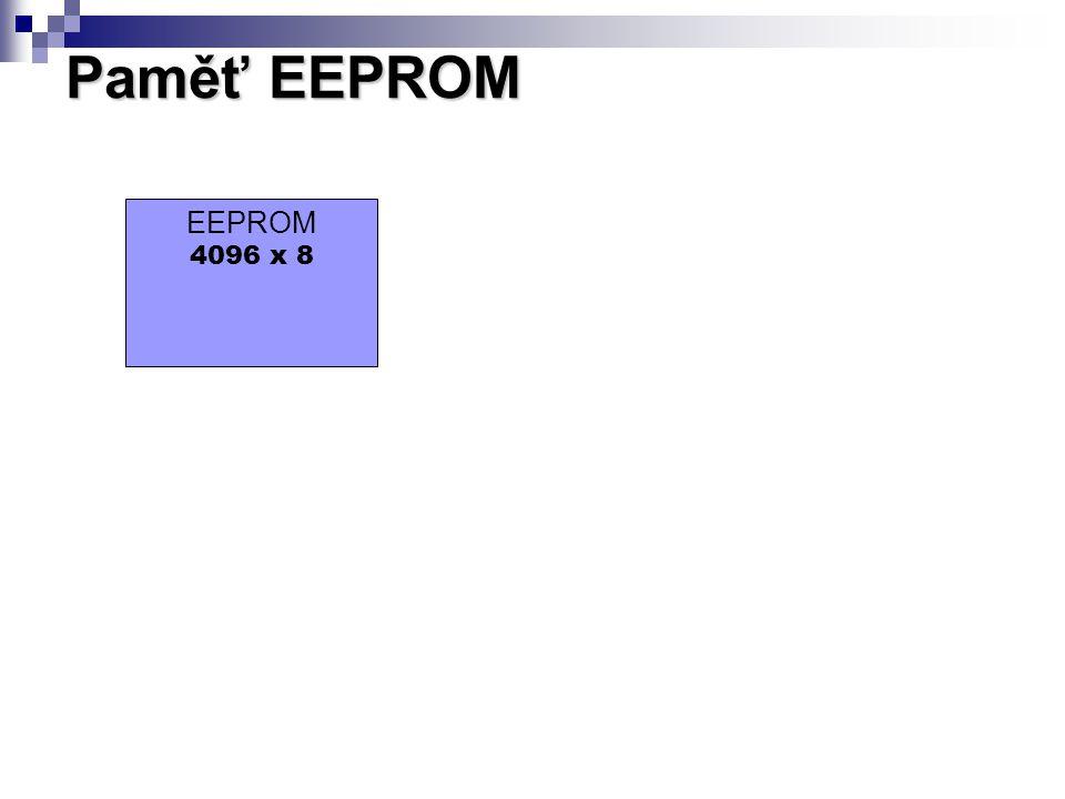 Paměť EEPROM EEPROM 4096 x 8