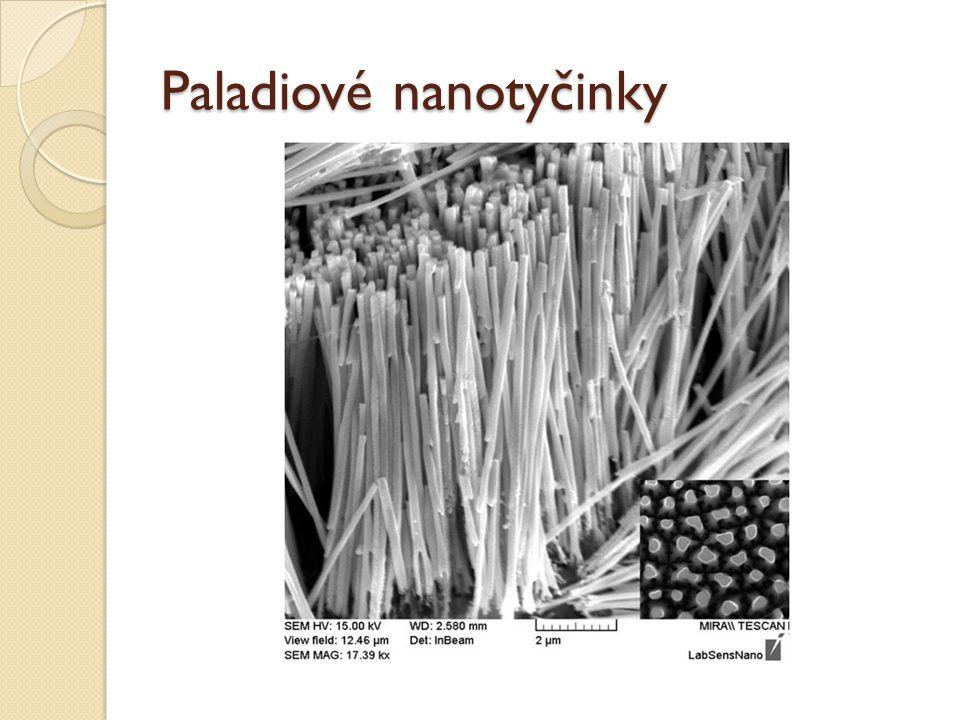 Paladiové nanotyčinky