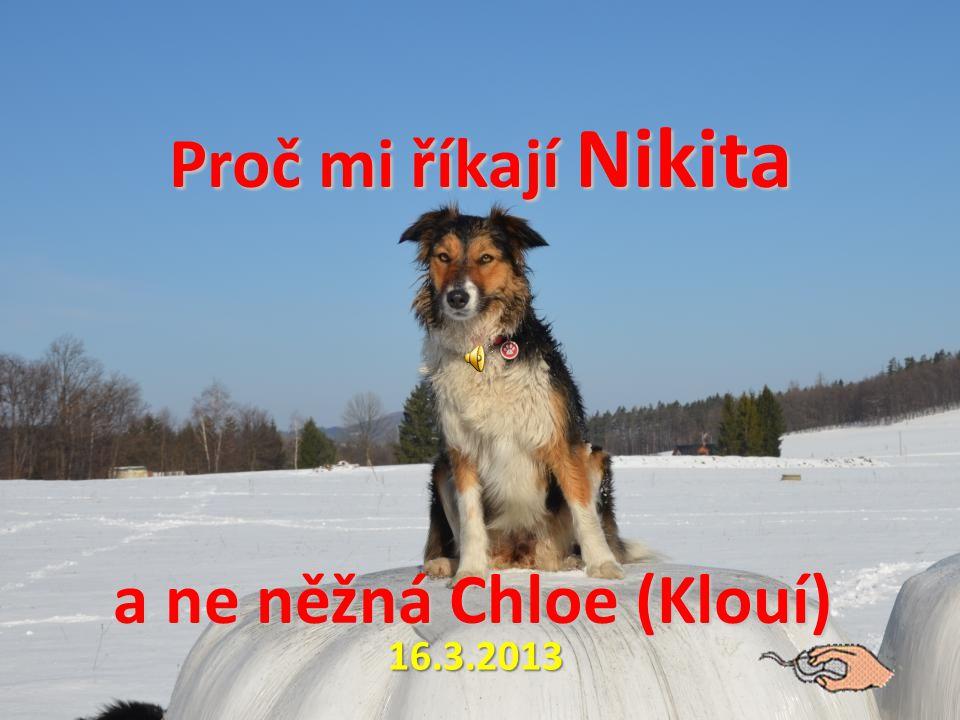 Proč mi říkají Nikita a ne něžná Chloe (Klouí) Proč mi říkají Nikita a ne něžná Chloe (Klouí) 16.3.2013