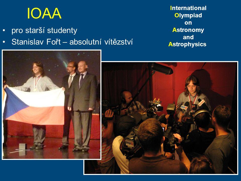 IOAA pro starší studenty Stanislav Fořt – absolutní vítězství International Olympiad on Astronomy and Astrophysics