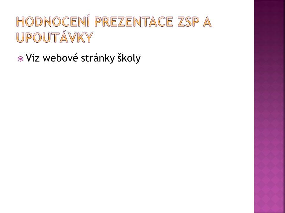  Viz webové stránky školy
