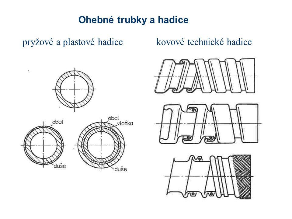 pryžové a plastové hadicekovové technické hadice Ohebné trubky a hadice