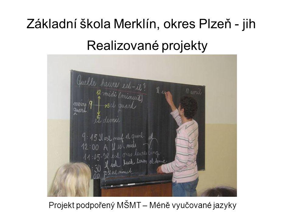 Základní škola Merklín, okres Plzeň - jih Vybavení tříd 2. ročník, 2. oddělení školní družiny