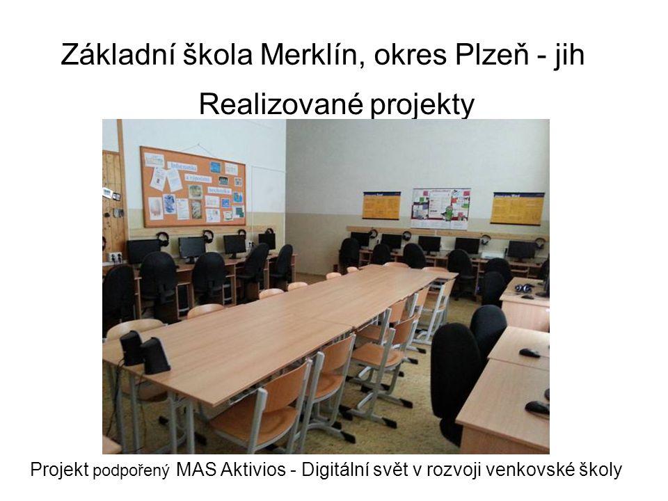 Základní škola Merklín, okres Plzeň - jih Vybavení tříd 5. ročník, žákovská knihovna