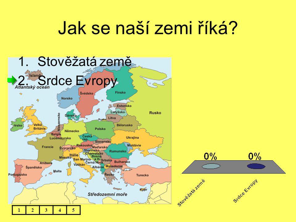 Jak se naší zemi říká? 12345 1.Stověžatá země 2.Srdce Evropy