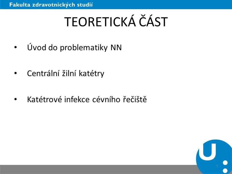 TEORETICKÁ ČÁST Úvod do problematiky NN Centrální žilní katétry Katétrové infekce cévního řečiště 5