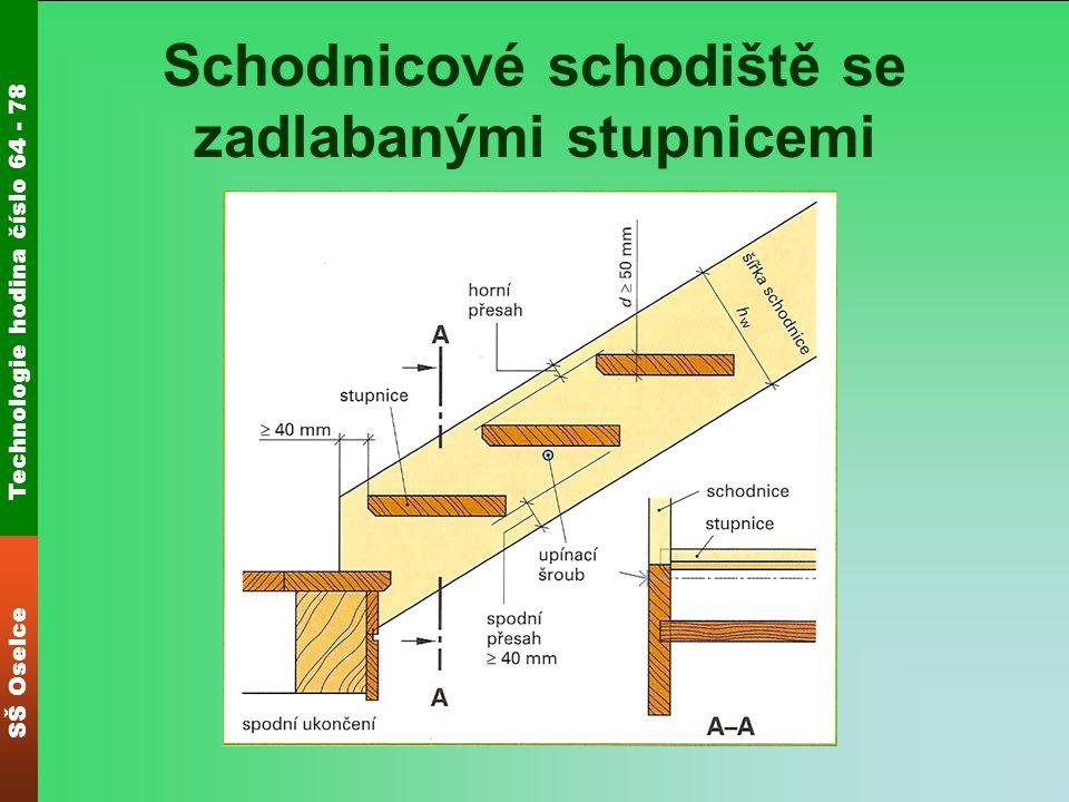 Technologie hodina číslo 64 - 78 SŠ Oselce Schodnicové schodiště se zadlabanými stupnicemi