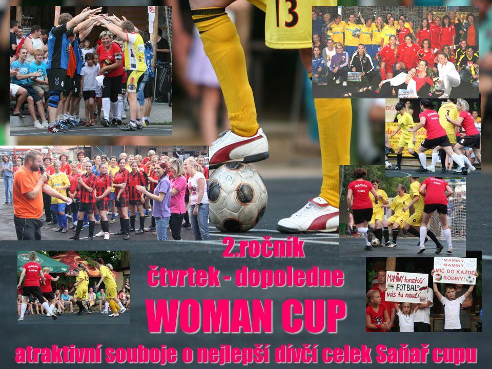 2.ročník 2.ročník čtvrtek - dopoledne WOMAN CUP atraktivní souboje o nejlepší dívčí celek Saňař cupu
