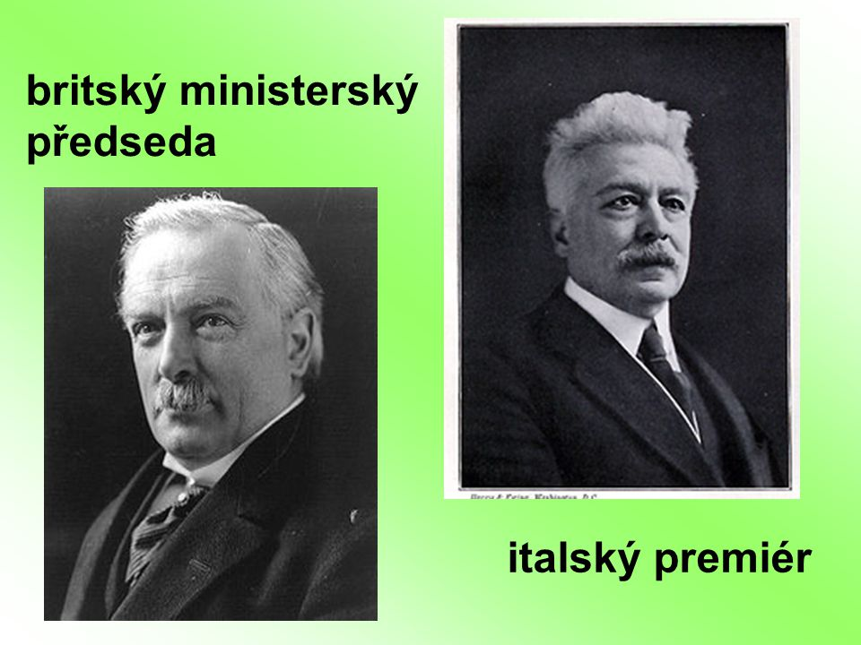 britský ministerský předseda italský premiér