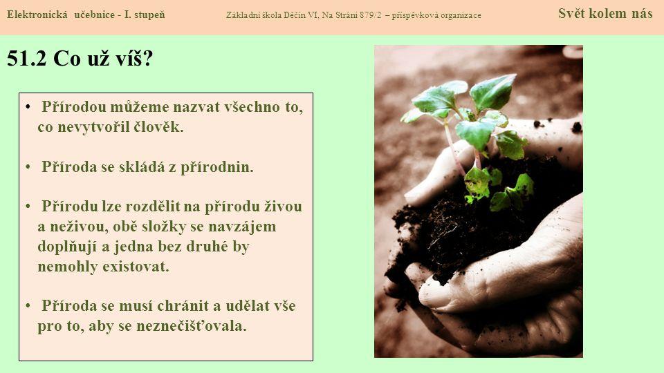 51.3 Neživá příroda Elektronická učebnice - I.