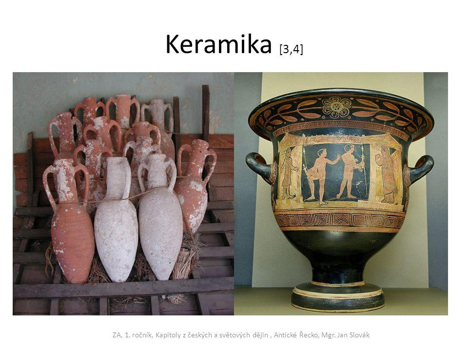 Keramika [3,4] ZA, 1. ročník, Kapitoly z českých a světových dějin, Antické Řecko, Mgr. Jan Slovák