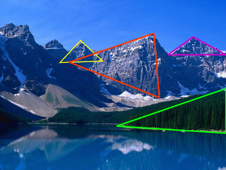 Úsečky, které spojují vrcholy, se nazývají strany trojúhelníka. STRANY TROJÚHELNÍKA
