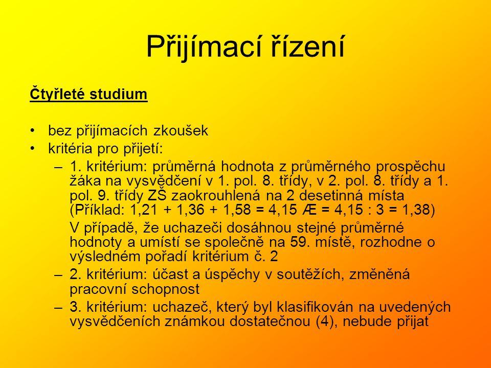 ŠVP Gymnázium – 8-leté PRIMA KVARTA TERCIE SEKUNDA SEPTIMA = 3.