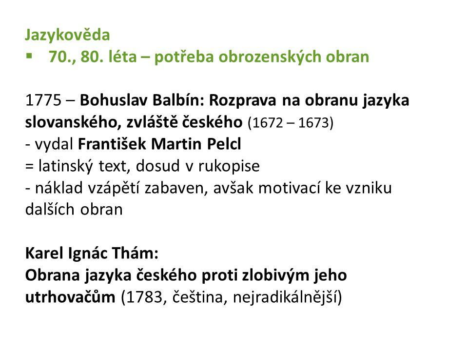 Jazykověda  70., 80.
